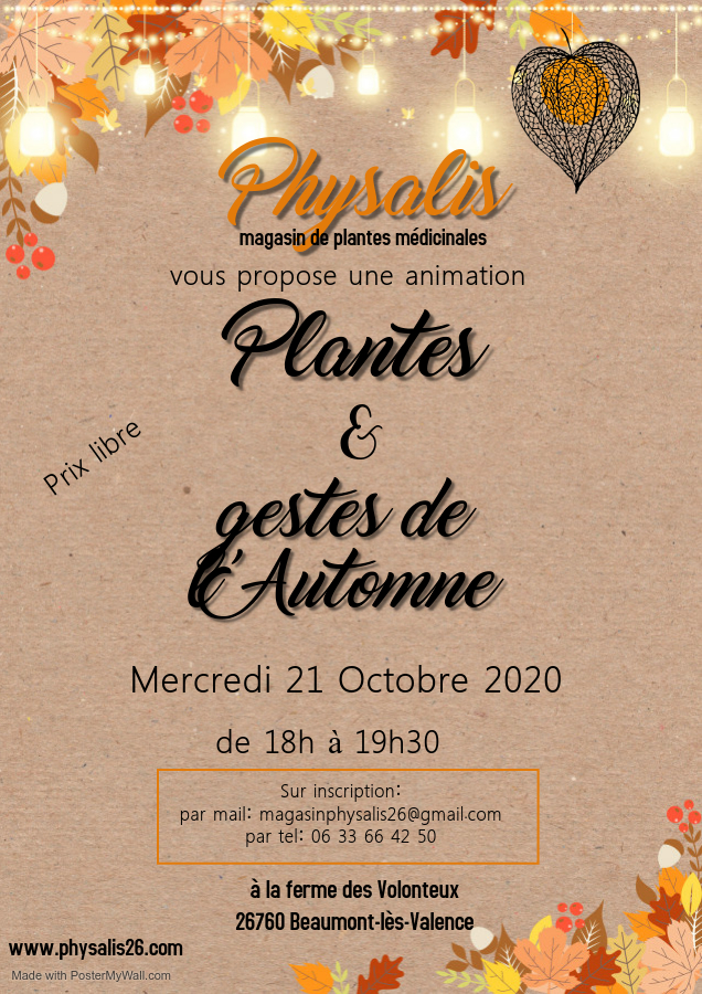 Copie de Vintage fall autumn theme invitation - Fait avec PosterMyWall(1)